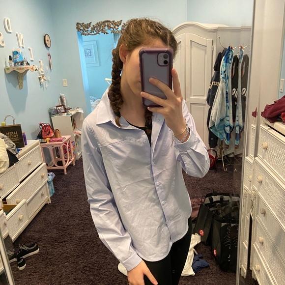 NWT Lululemon light blue blouse